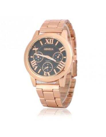 GENEVA Rose Gold Steel Band Watch Quartz Watch