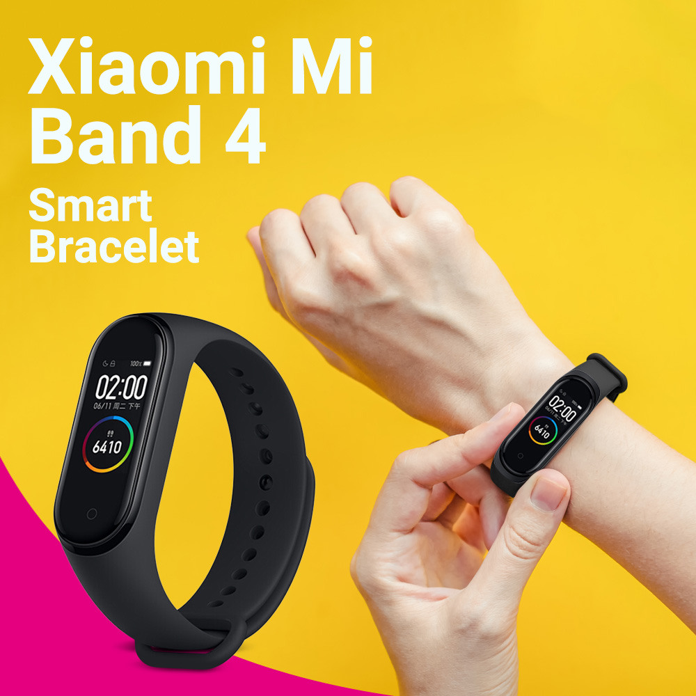 Xiaomi Mi Band 4 Bluetooth 5.0 5ATM Waterproof Sports Smart Bracelet - Black
